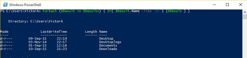 PowerShell-ForEach-Get-ChildItem-If-result