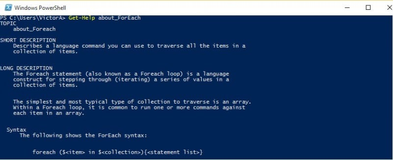 powershell foreach loop | applications with examples