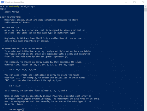 Powershell_Arrays