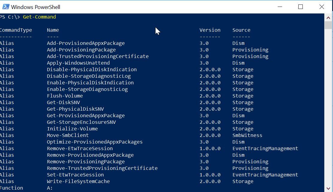 PowerShell Get-Command: Syntax, Applications, Examples