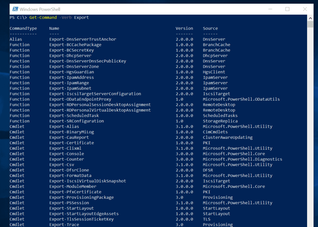 most useful powershell commands