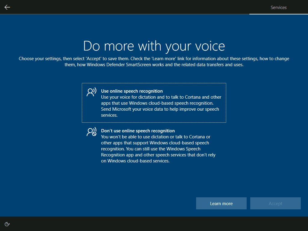 Configure voice recognition