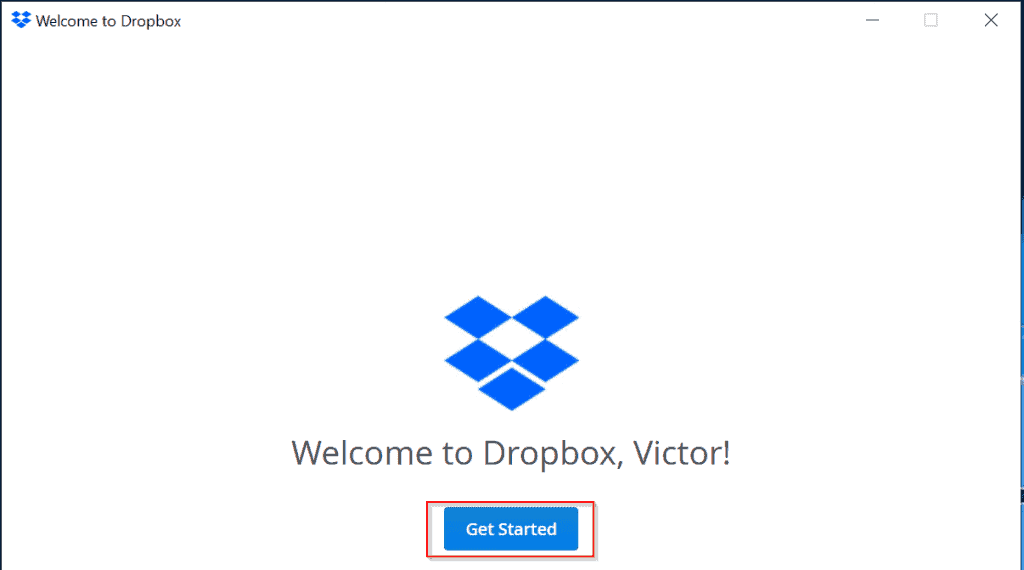 Dropbox Login setup