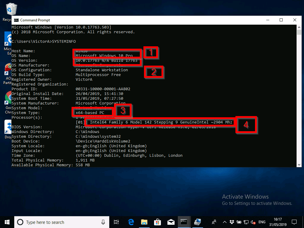 How to Check Windows 10 Version with systeminfo