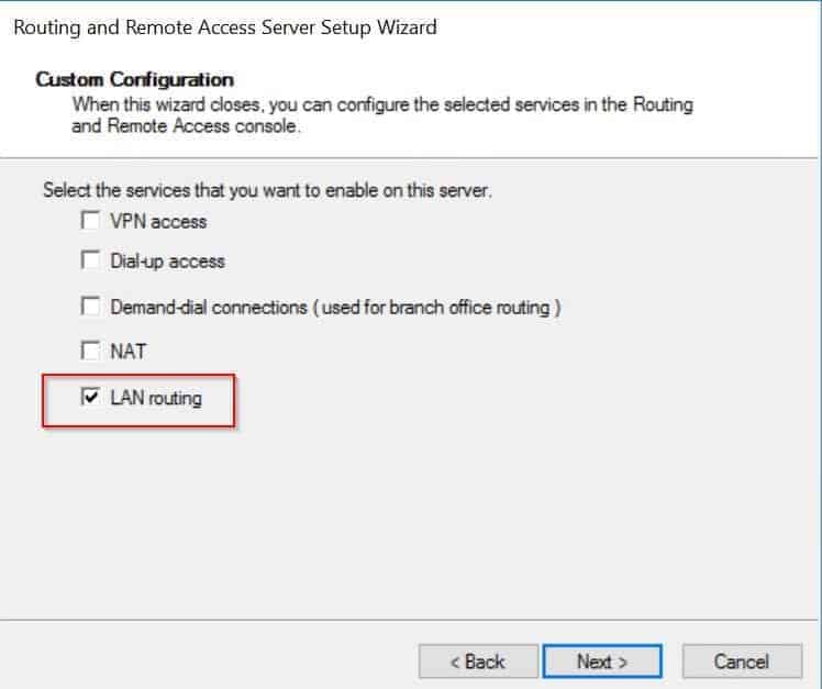 DHCP Relay Agent - Configure Roting