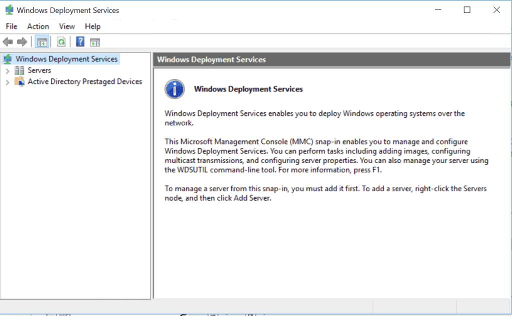 Windows Deployment Services (WDS) - WDS management console