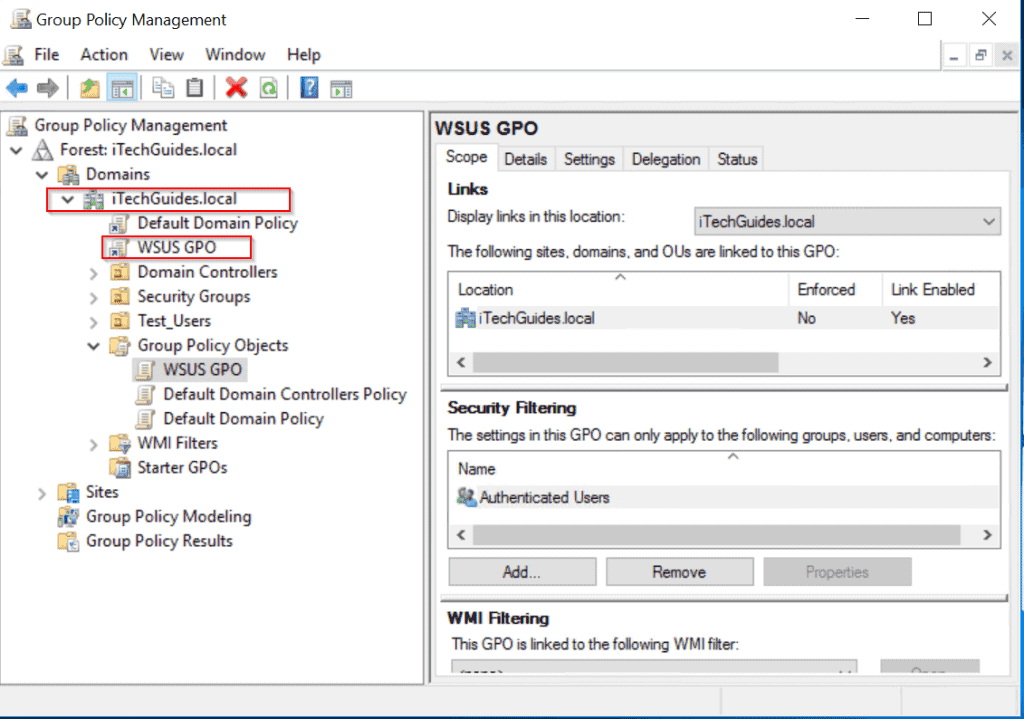 WSUS Windows Server 2016: Installation and Configuration