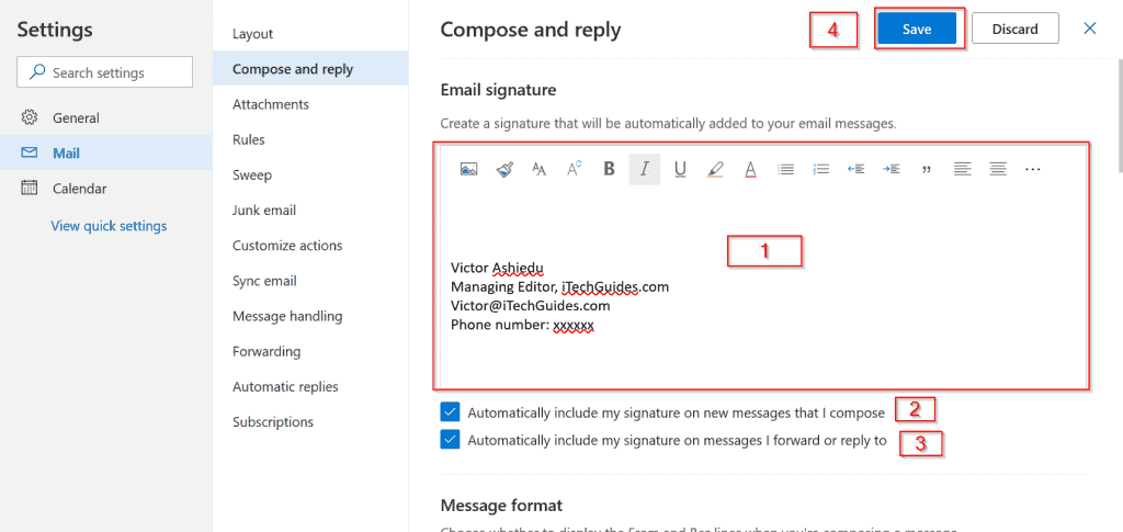 Hotmail Email (Now Outlook.com Email) - configure hotmail email signature