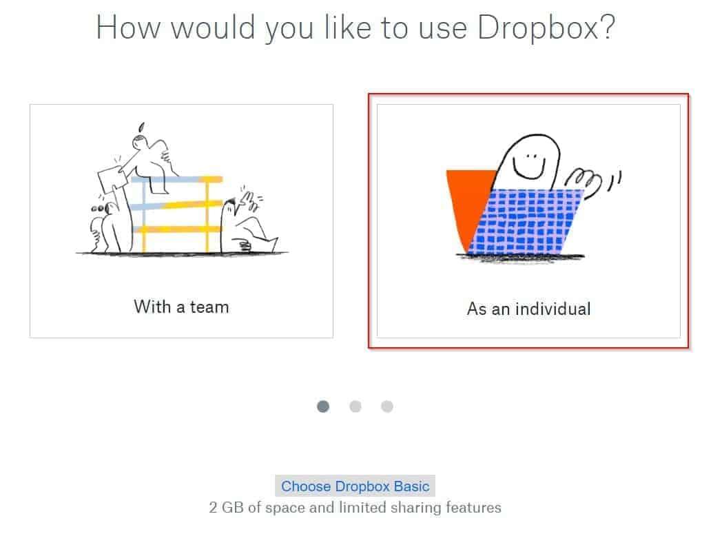 Dropbox login