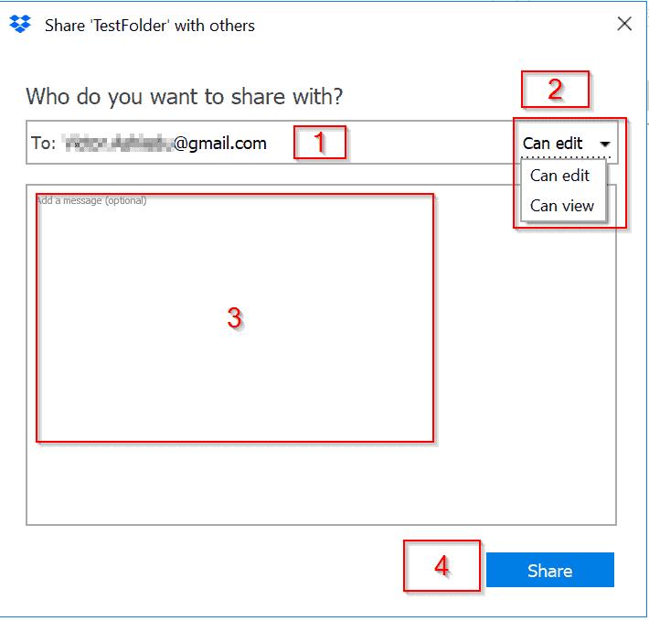 Dropbox login folder share icon