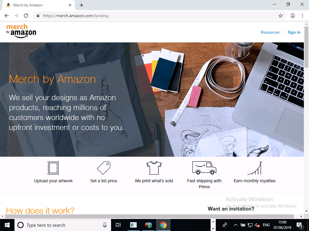 Amazon mecrh home page