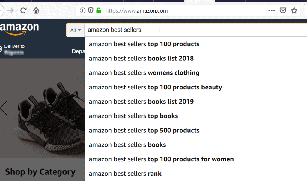 amazon best sellers by amazon search