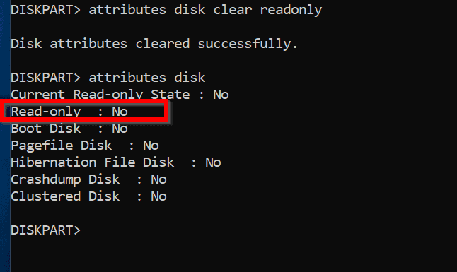 Windows was Unable to Complete the Format  - format with diskpart