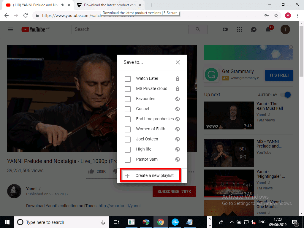 Create a YouTube Music Playlist