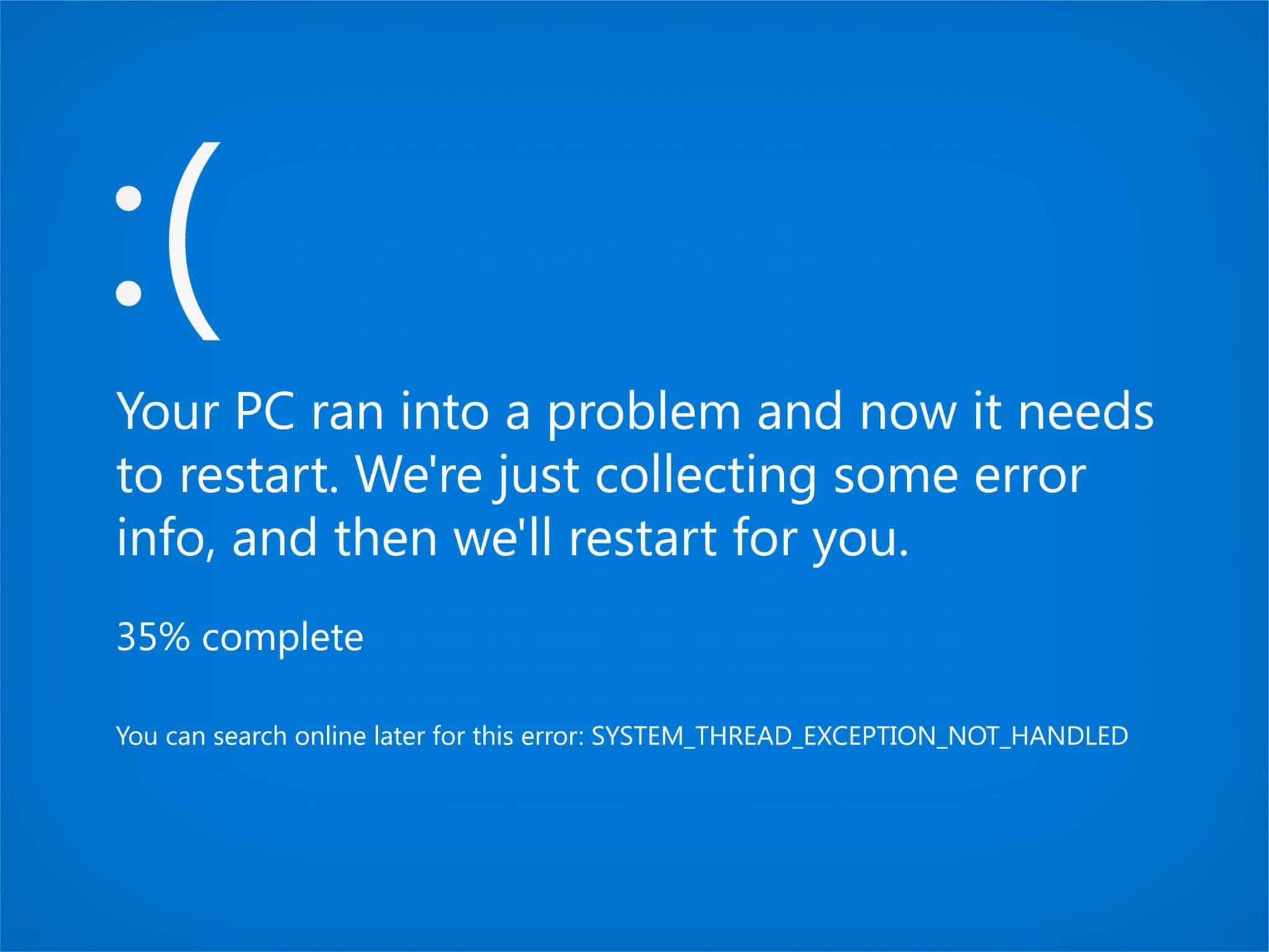 Your PC Ran Into a Problem and Needs to Restart [Fixed]