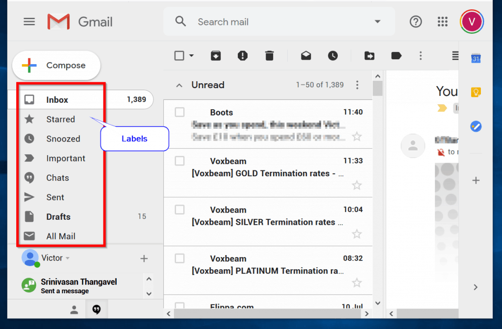 How to Archive a Single Gmail Email - click the Gmail label you wish to archive from