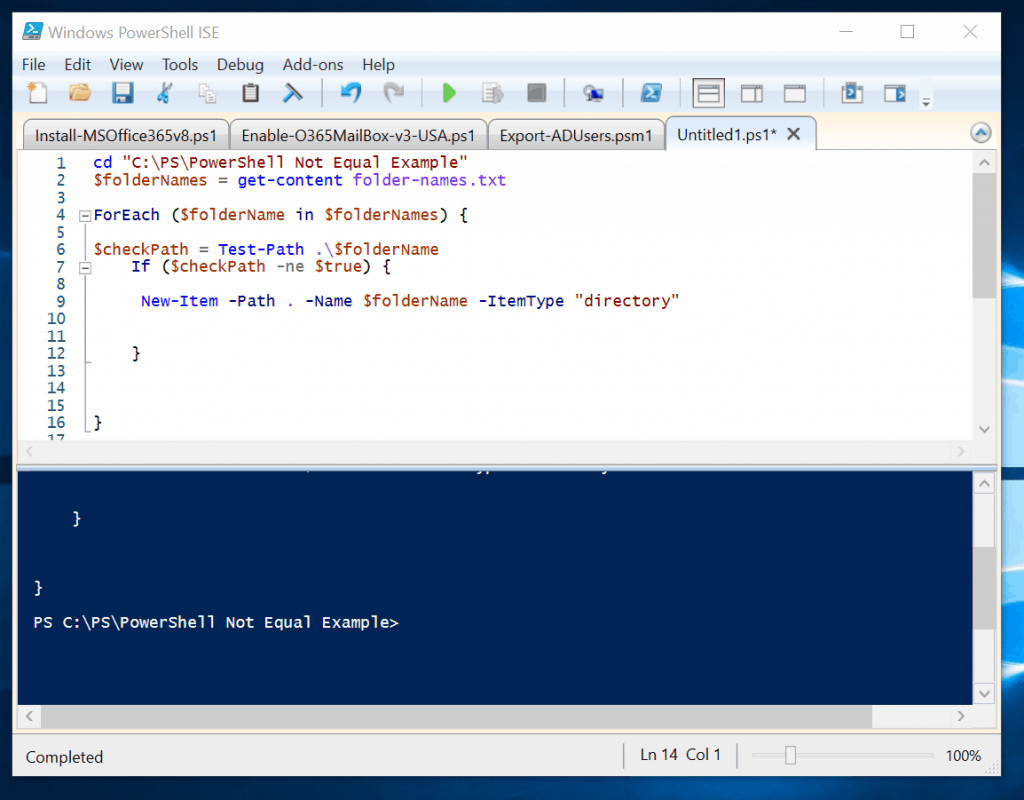 PowerShell Not Equal Operator: Applications, Examples