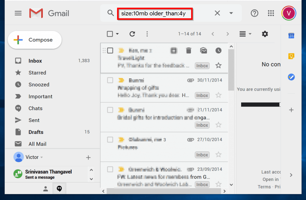 How to Sort Gmail by Size and Date