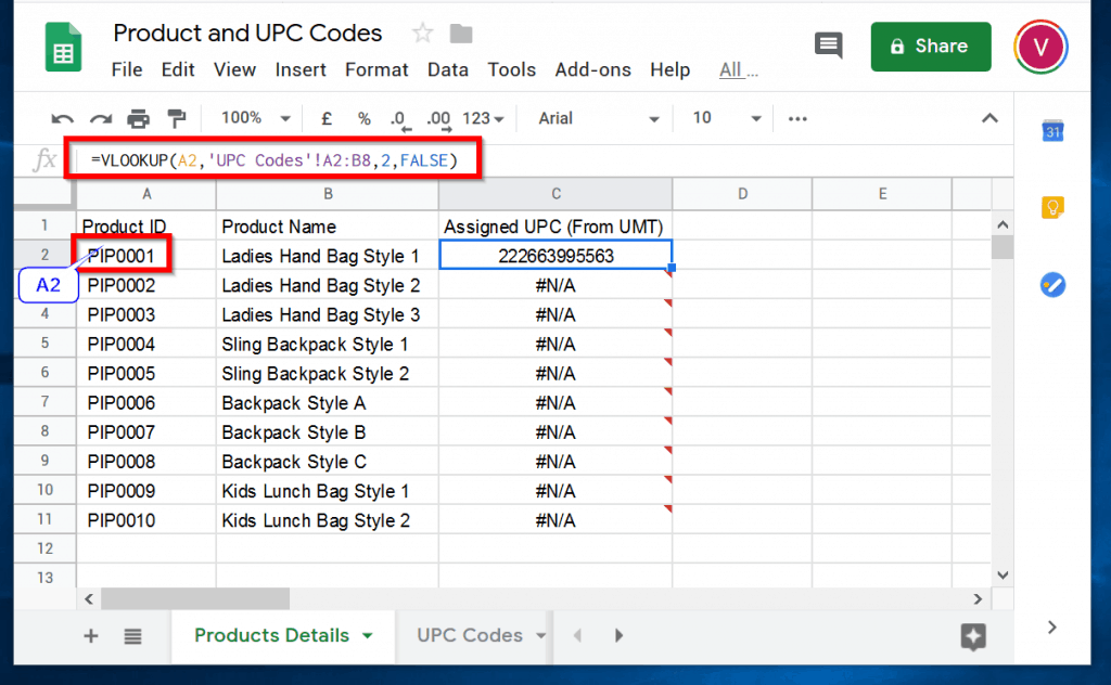VLOOKUP in Google Sheets Example Explained