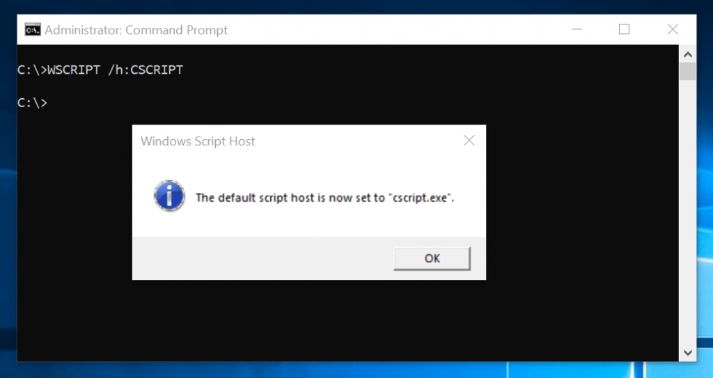 WSCRIPT Examples - change default windows script file to CSCRIPT