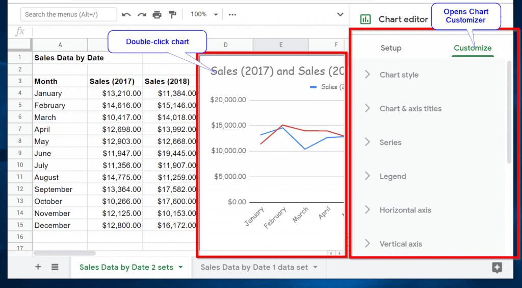 How to Edit a Line Chart in Google Sheets