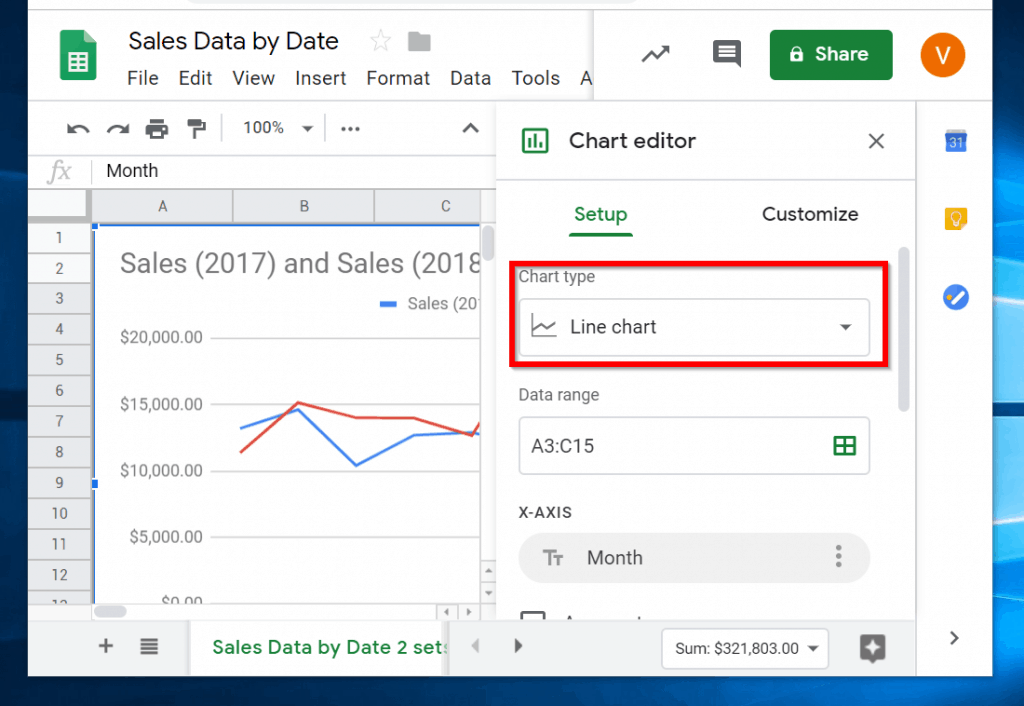 How to Make a Line Graph in Google Sheets | iTechguides com