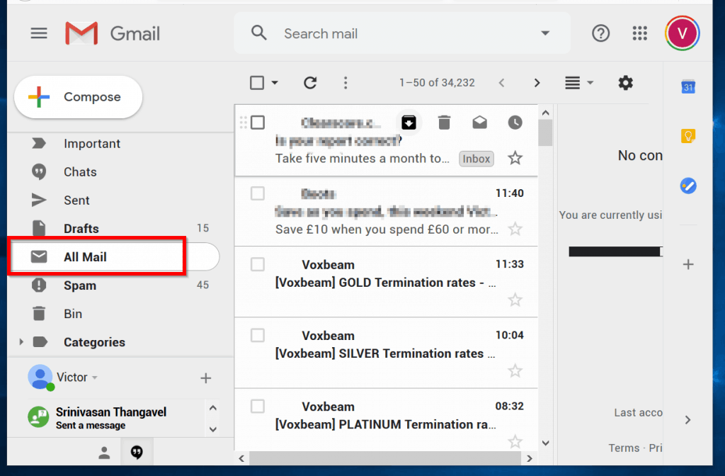 How to Unarchive Gmail Email: Ste 1 Click the All Mail label