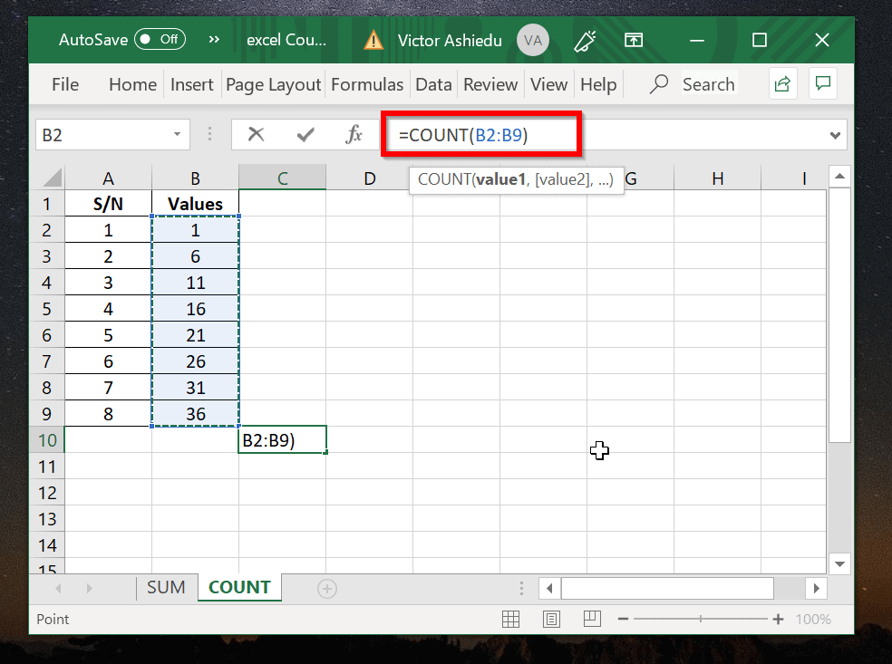 Excel Count: How to Count in Excel With Examples