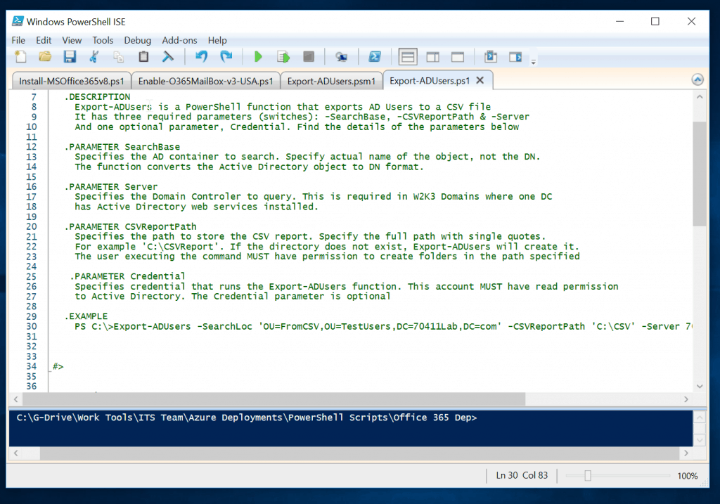 Powershell If Not