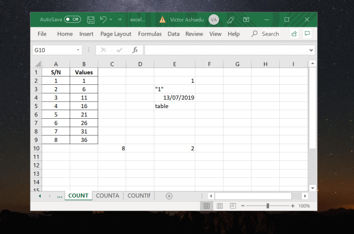 Excel Count