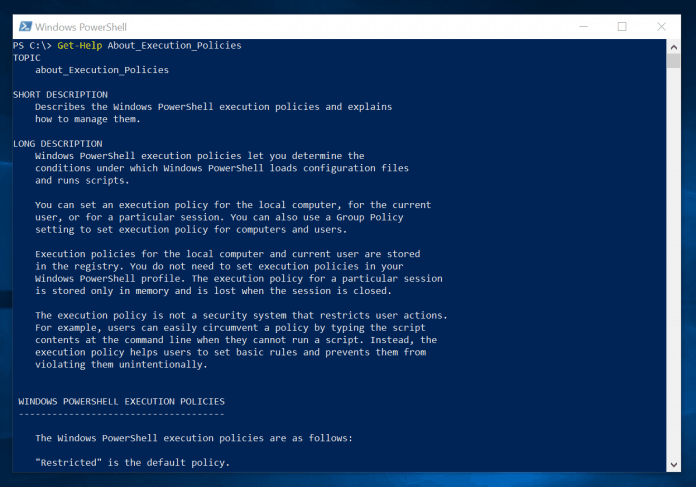 powershell executionpolicy