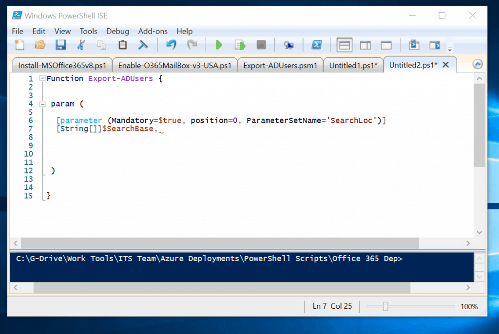 Powershell Param (How to Add Parameters to a PowerShell Function)