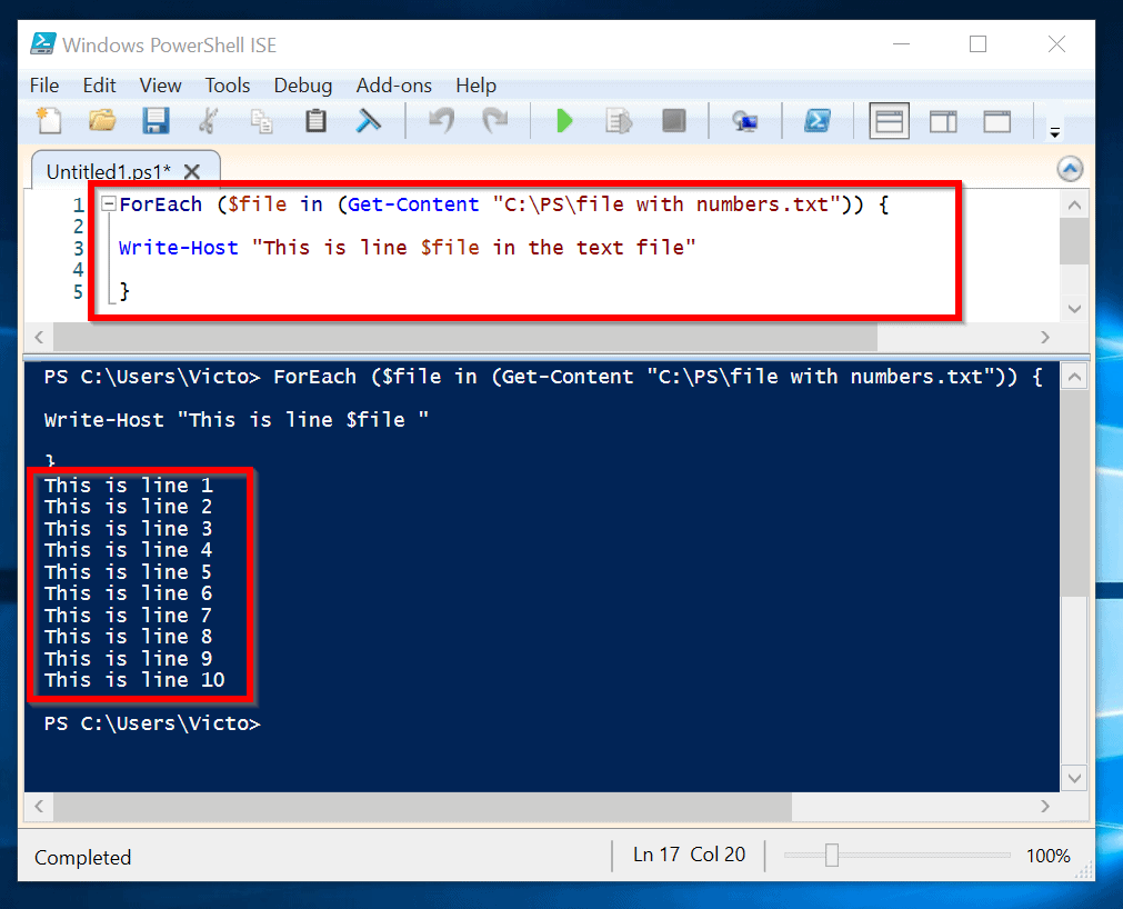 Foreach in File Powershell: How to Iterate the Content of a