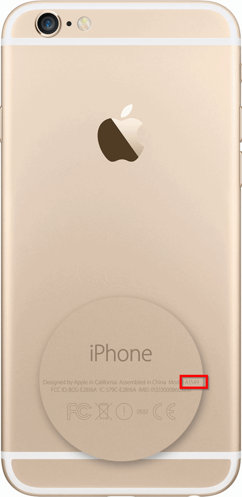You can get the model number of iPhone 7 from the back of the phone.