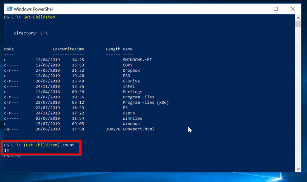How to Count Objects in PowerShell with Count Method