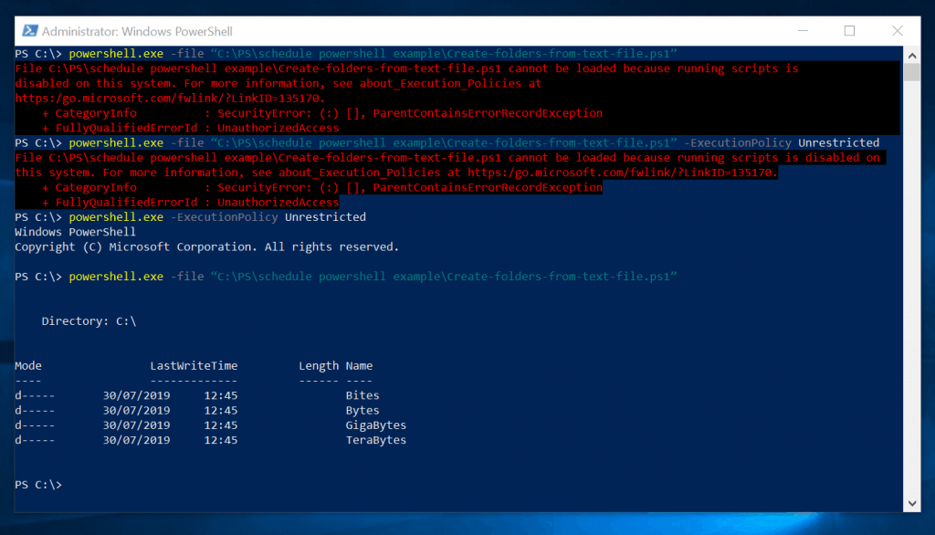 How to Set Execution Policy with PowerShell.exe -ExecutionPolicy