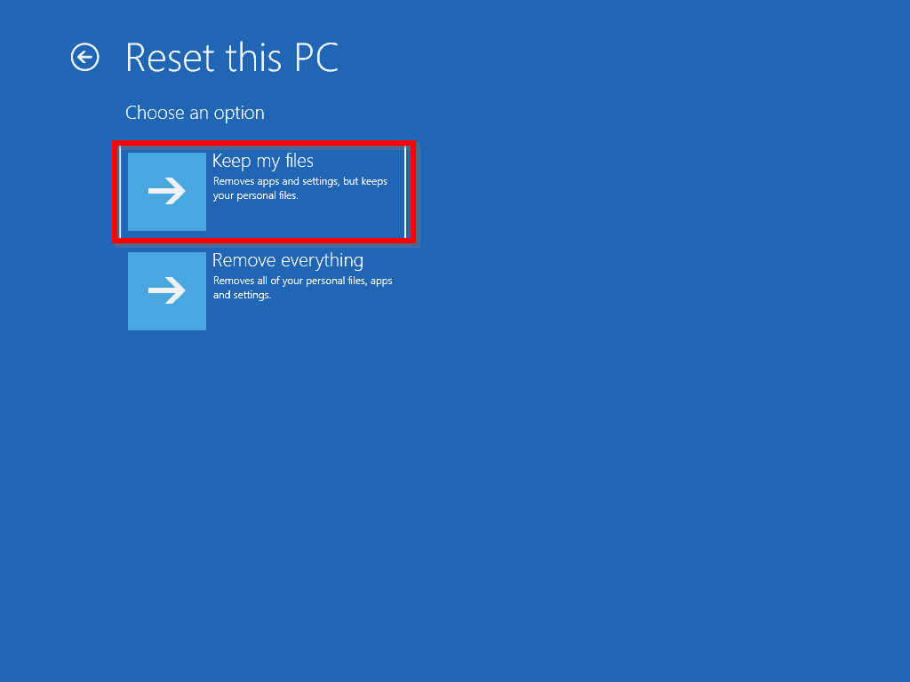 How to Reset Windows 10 from Boot