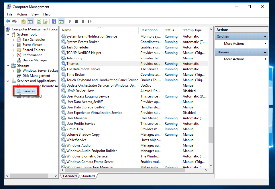 network discovery keeps turning off server 2016 - Open Computer Management -> Services