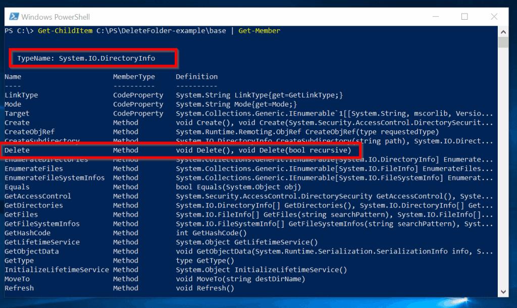 "Powershell Delete Folder or File with Delete ""Method"""