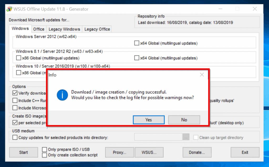 WSUS Offline Update: Install Microsoft Updates to Offline