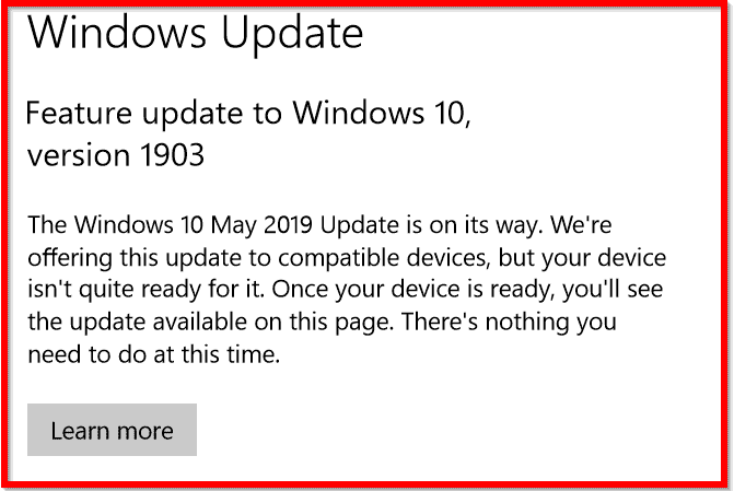 how to install windows 10 1903 update manually