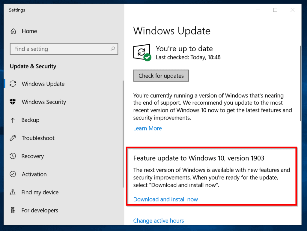 Latest Windows 10 Update (1903): How to Install May 2019 Update