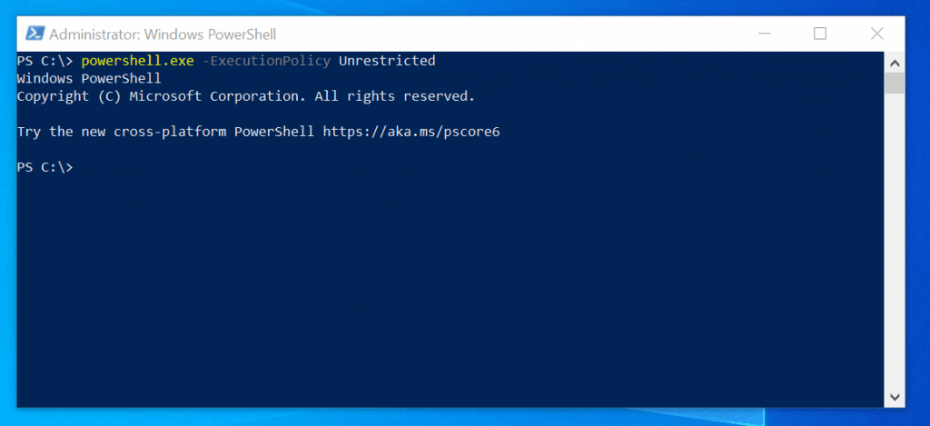 office 365 powershell -run powershell.exe -ExecutionPolicy Unrestricted command