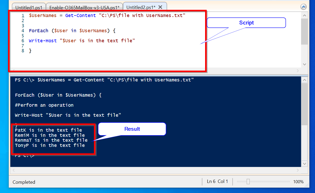 Powershell Get-Content ForEach: How Iterate the Contents of