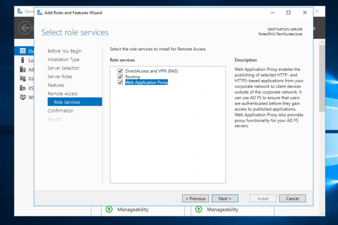 routing and remote access windows server 2016