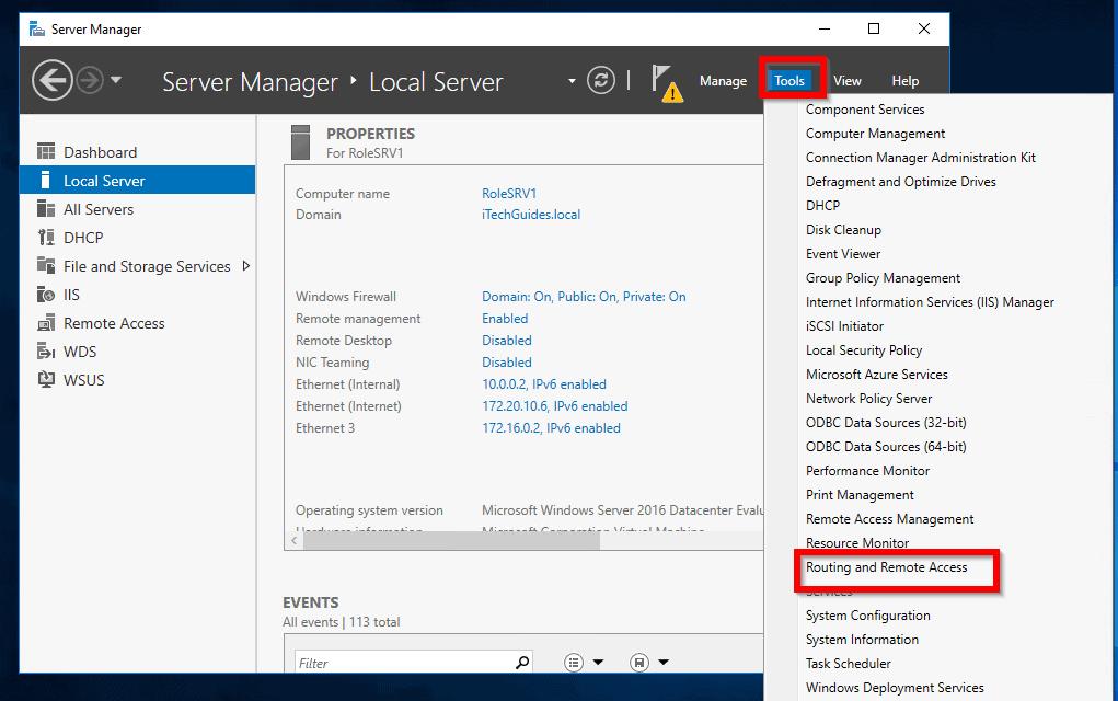 Étapes pour activer et configurer un réseau privé virtuel dans Windows Server 2016