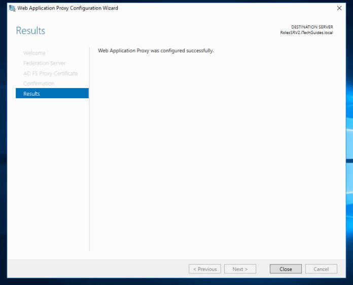 Web Application Proxy in Windows Server 2016: Configuration