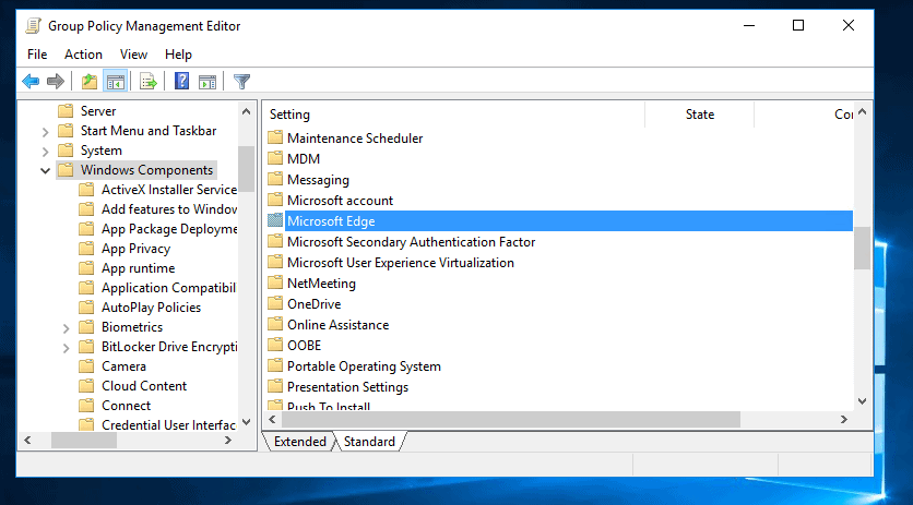 Set Homepage in Microsoft Edge with Group Policy