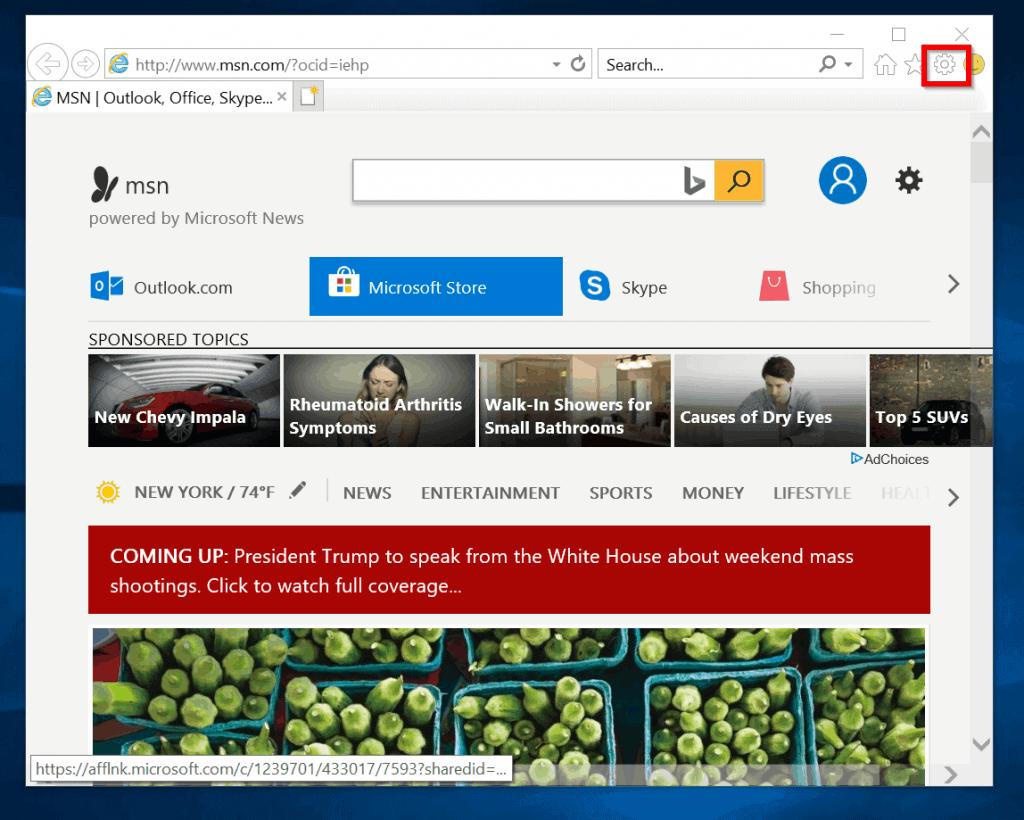 internet explorer has stopped working - Internet explorer settings
