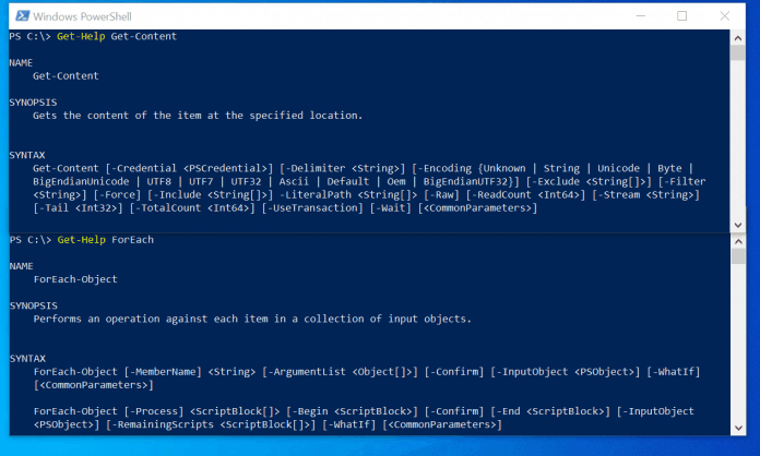 powershell get-content foreach